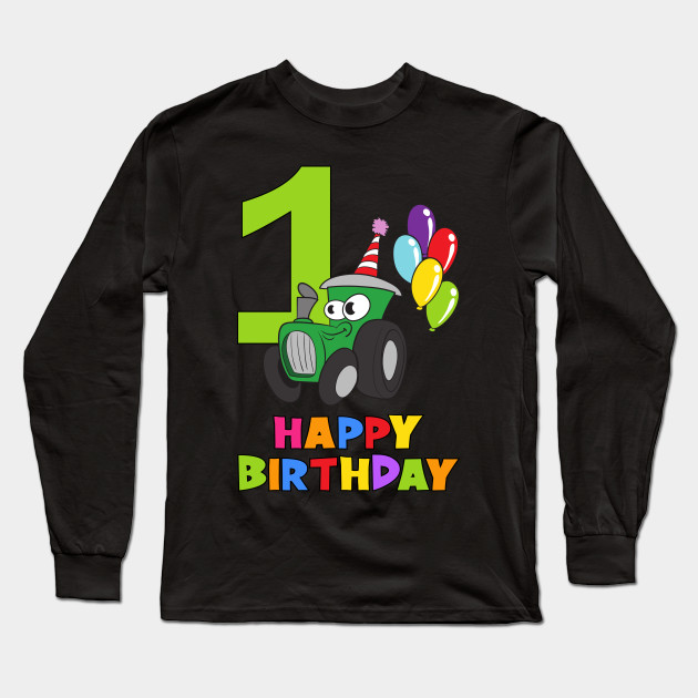 1st First Birthday Party 1 Year Old One Long Sleeve T Shirt