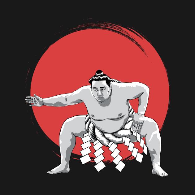 Japanese Sumo Wrestler t-shirt