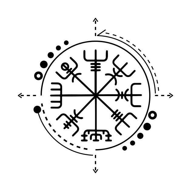 Vegvisir Norse Pagan Symbol Vegvisir Symbol T Shirt Teepublic