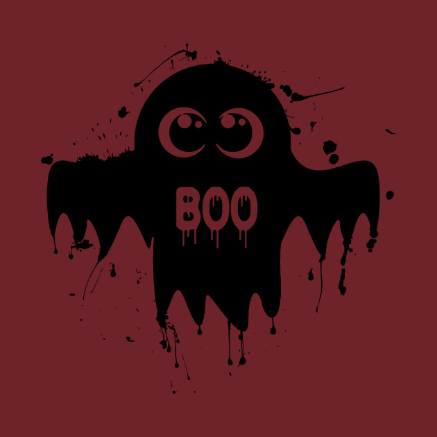Cute Ghost - Halloween Vector