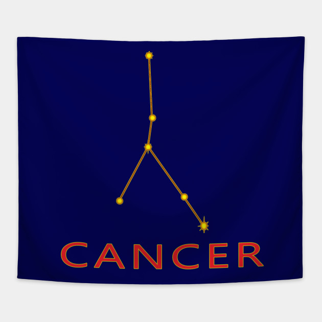 Cancer Constellation Zodiac Astrology Star Chart Cancer Tapestry