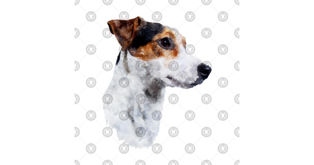 watercolour jack russel puppy dog - dog - kids t-shirt | teepublic