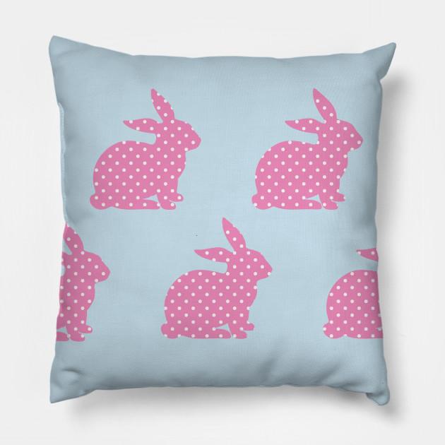 Pink Bunny Wallpaper Pillow