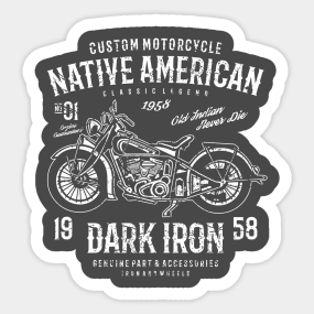 Motorcycle Native American Stickers TeePublic - Custom motorcycle stickers racing