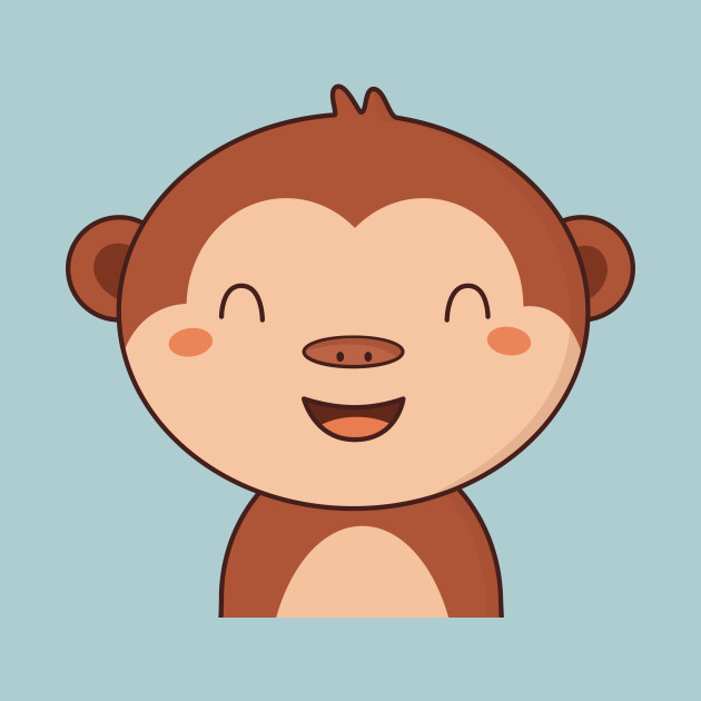 Kawaii Cute Brown Monkey