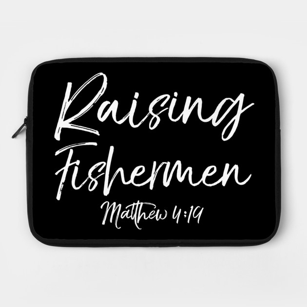 Mens Cute Christian Parents Gift Fishers of Men Raising Fishermen Premium  T-Shirt by robertaagibsonkg9d8