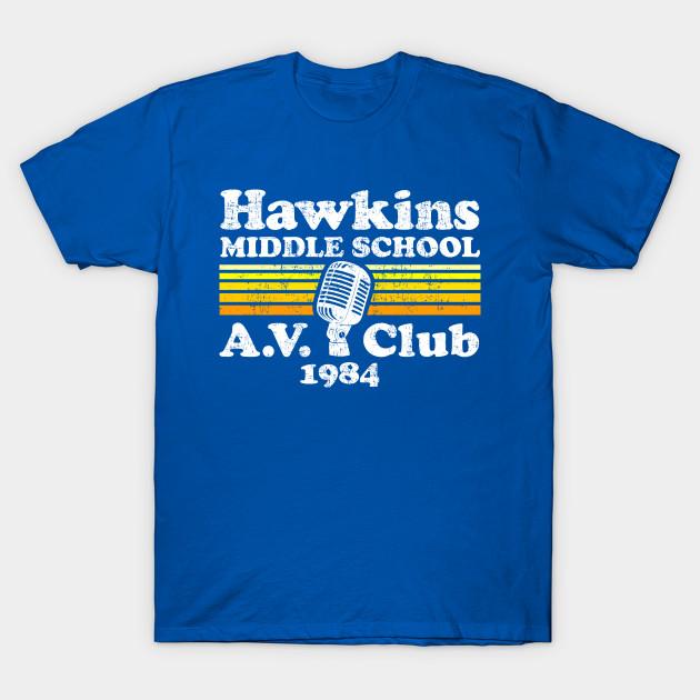 Hawkins Middle School Av Club Stranger Things T Shirt Teepublic