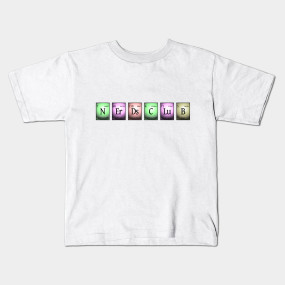 nerds club in chemical elements... Kids T-Shirt