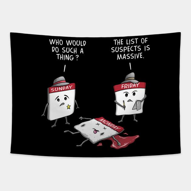Mondays Suck Funny Cartoon Case of the Mondays Novelty Gift