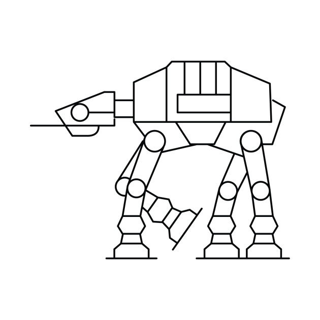 Simple Star Wars Line Art At at Walker Grap