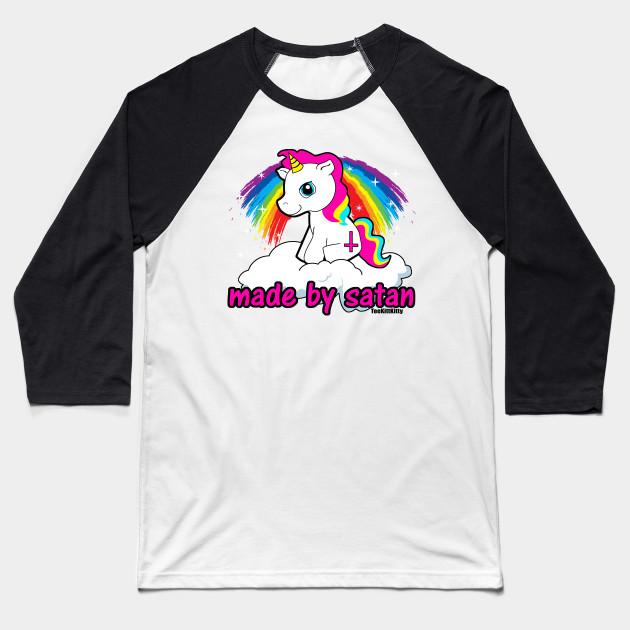 f2d8d071 Made By Satan Shirt - - Offensive Tshirts, Satanic Shirts, Funny Atheist  Shirt Baseball T-Shirt