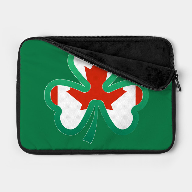 Canadian Flag for st patricks day, Irish Shamrock