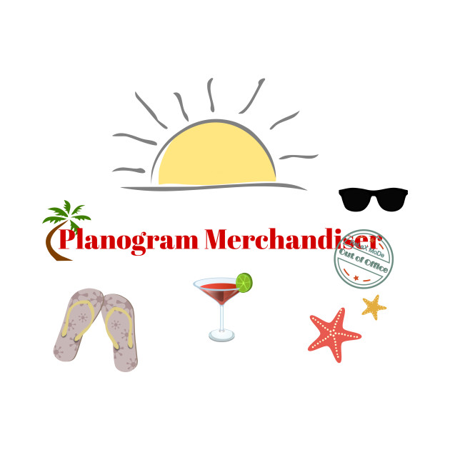 Planogram Merchandiser on beach holiday