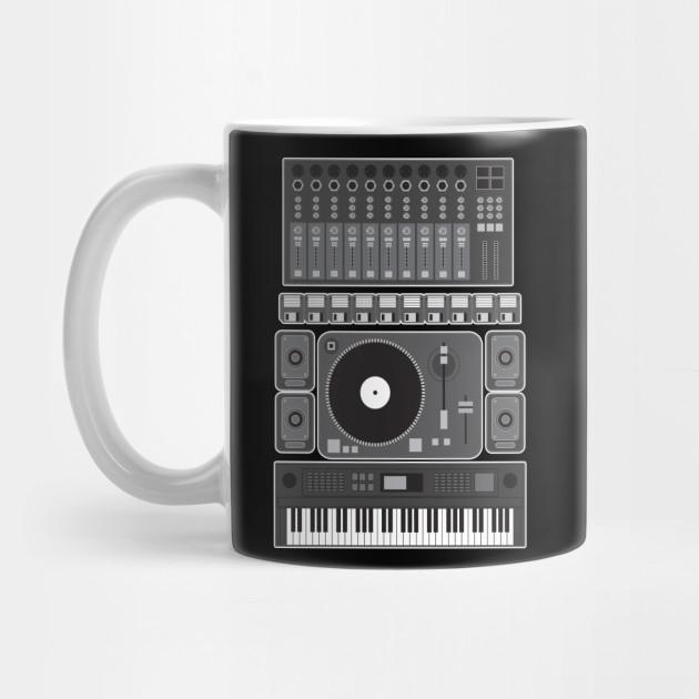 Old School Hip Hop Rap Music Beat Maker DJ Gift by germancomicdesign