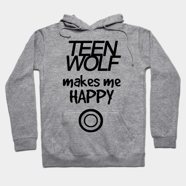 vendita calda online c8e9a 8b742 Teen Wolf makes me happy - black
