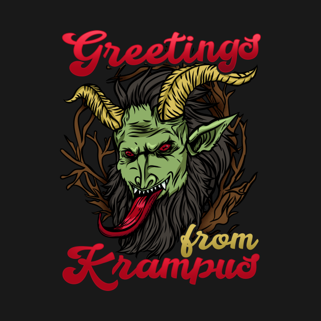 Greetings from Krampus - Ugly Christmas Demon Gift