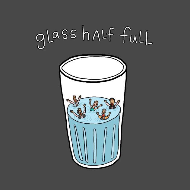 Glass Half Full - Swimming - T-Shirt