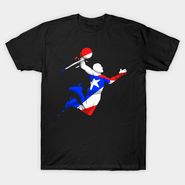 6dc93f3fb28 Puerto Rico Tshirts - Basketball Player Flag Design - Basketball - T ...