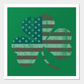 b631d1eb031d Irish American Flag Shamrock Posters and Art