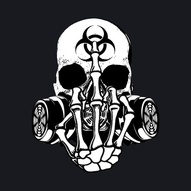 Biohazard Zombie Skull Fuck U