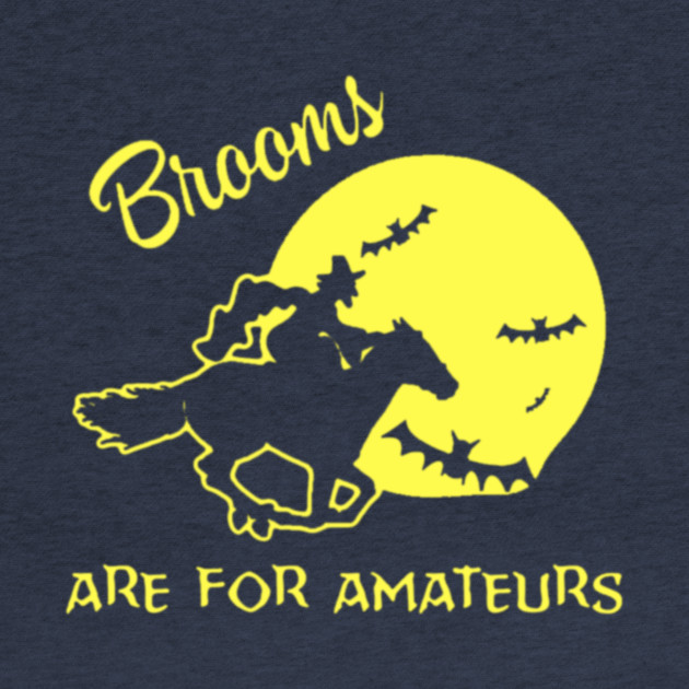 Brooms are for amateurs magician rides horse T-shirt