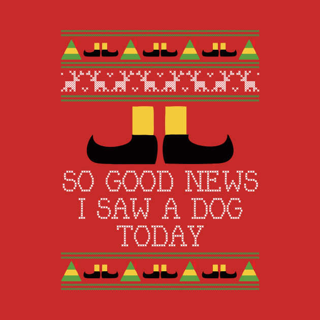 Good News Elf Quote Christmas Knit