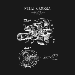 Film Camera Patent t-shirts