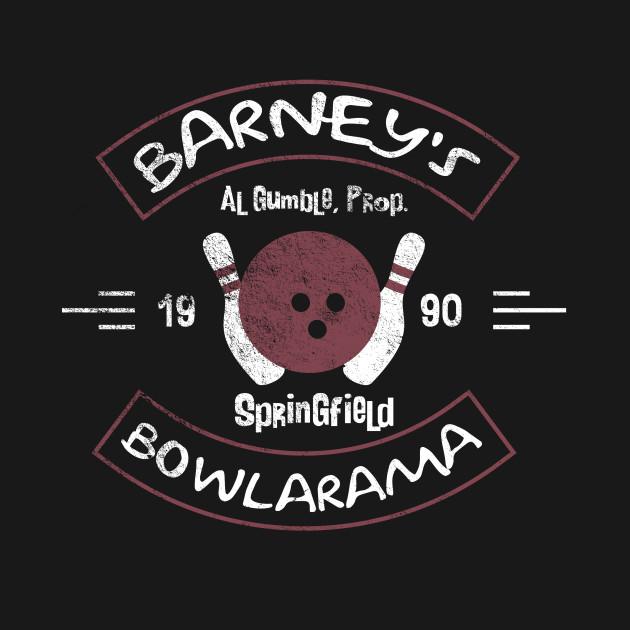 Barney's Bowlarama with Pin Pals on Back