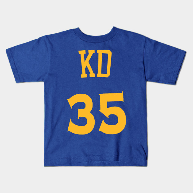 sports shoes 064f6 669f9 Kevin Durant 'KD' Nickname Jersey - Golden State Warriors