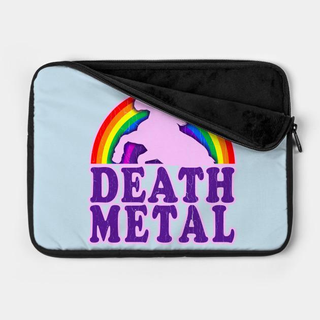 Funny Death Metal Unicorn Rainbow