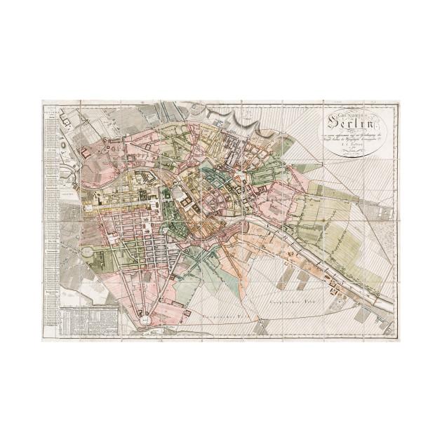 Vintage Map Of Berlin Berlin Map Kids Long Sleeve TShirt - Vintage map berlin