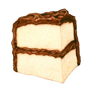 Chocolate Cake Slice t-shirts