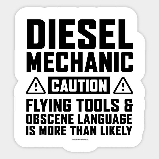 Diesel Mechanic Tools >> Flying Tools And Diesel Mechanic Diesel Mechanic Sticker Teepublic