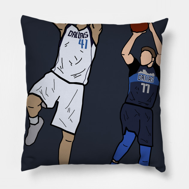 Dirk Nowitzki x Luka Doncic Signature One Leg Fadeaway - Dallas Mavericks
