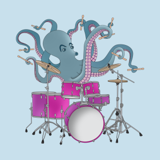 Octopus Playing Drums t-shirts