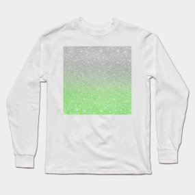 c66b04105ce5 Trendy Ombre Mint Green Silver Glitter Long Sleeve T-Shirt. by  ColorFlowCreations