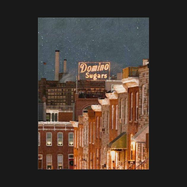 Domino Sugars Sign Baltimore Maryland