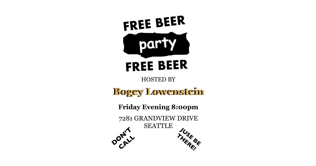 Bogey Lowenstein: Bogey Lowenstein's Party Invitation