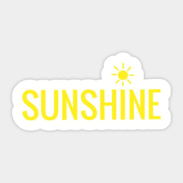 Sunshine Happy Sticker Teepublic