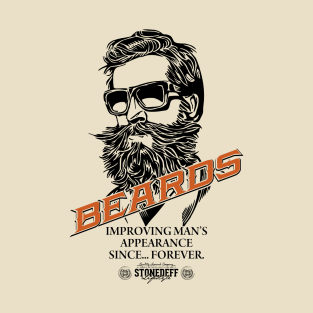 Beards improving mens appearance since forever t-shirts