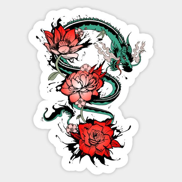 Japanese Dragon Tattoo - Japanese Dragon - Sticker