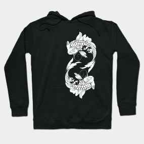 bf686329d89a KOI FISH (represent strength,independence,perseverance,ambition and good  luck) Hoodie