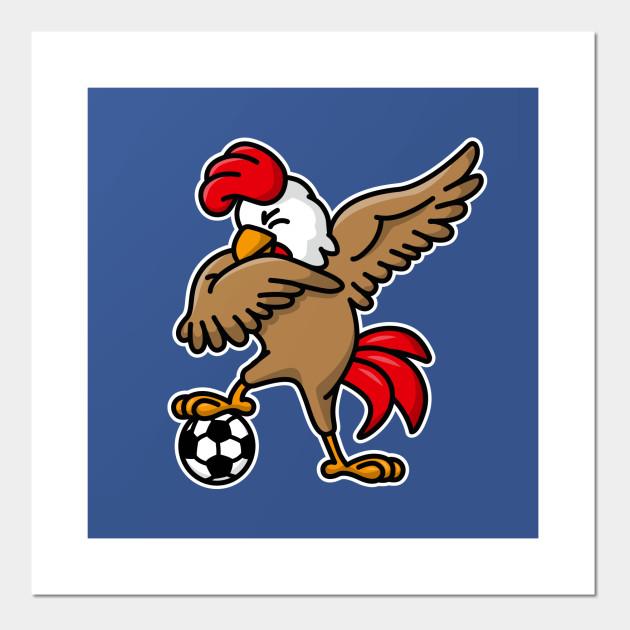 Dabbing Dab Cock Coq Gaulois Football Foot France