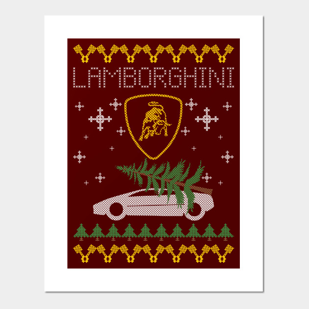 Lamborghini Xmas Lamborghini Posters And Art Prints Teepublic