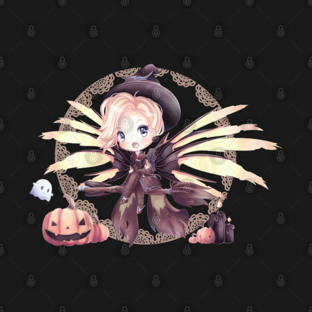 Cute Chibi Mercy Witch Painting