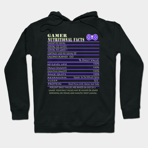 Nutritional Facts Gamer Hoodie