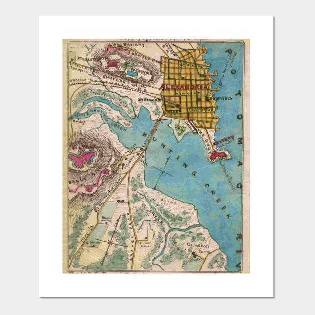Vintage Map of Alexandria Virginia - Alexandria Va Map - Posters and on