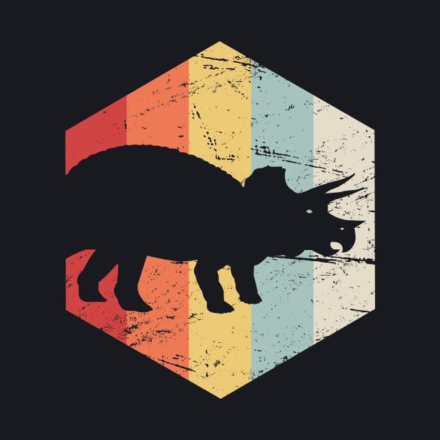 Retro 70s Triceratops
