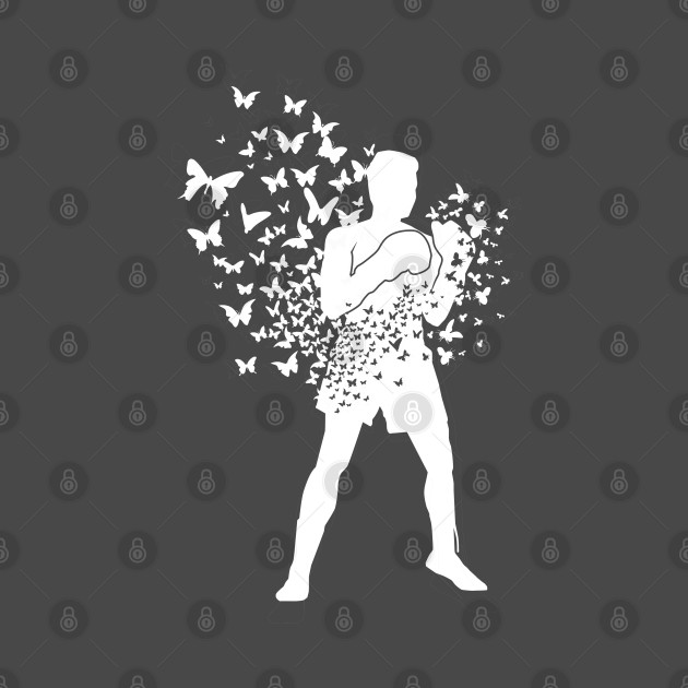 Boxing Series: Float Like a Butterfly (White Graphic)