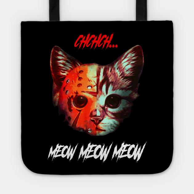 Cat Ch ch ch Meow meow meow halloween cat t-shirt